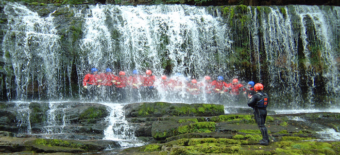 Canyoning for a corporate event idea
