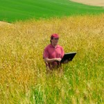 farmer with laptop