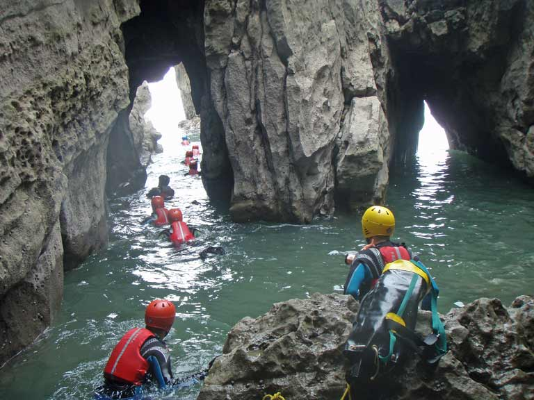 Coasteering team activity