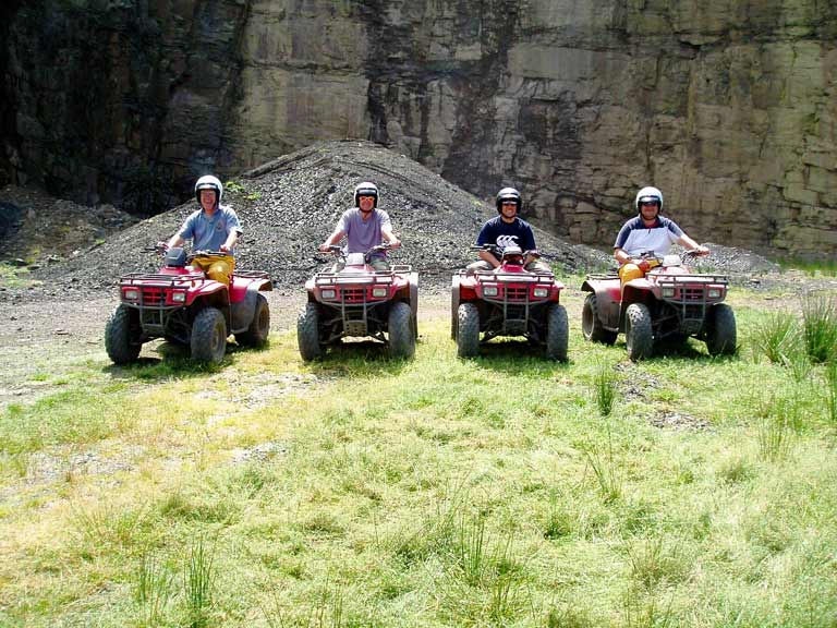 Quad biking team activity