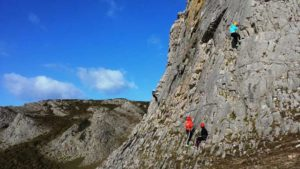 Climbing team activity
