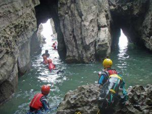 Coasteering team activity