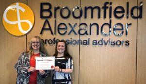 Apprenticeship Katherine Broadhurst, Broomfield Alexander